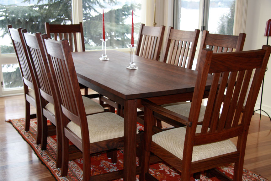 Craftsman Dining Set In Walnut