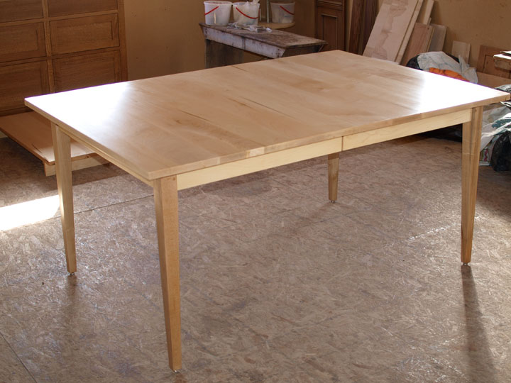 maple shaker extendable dining table - Maple Kitchen Table
