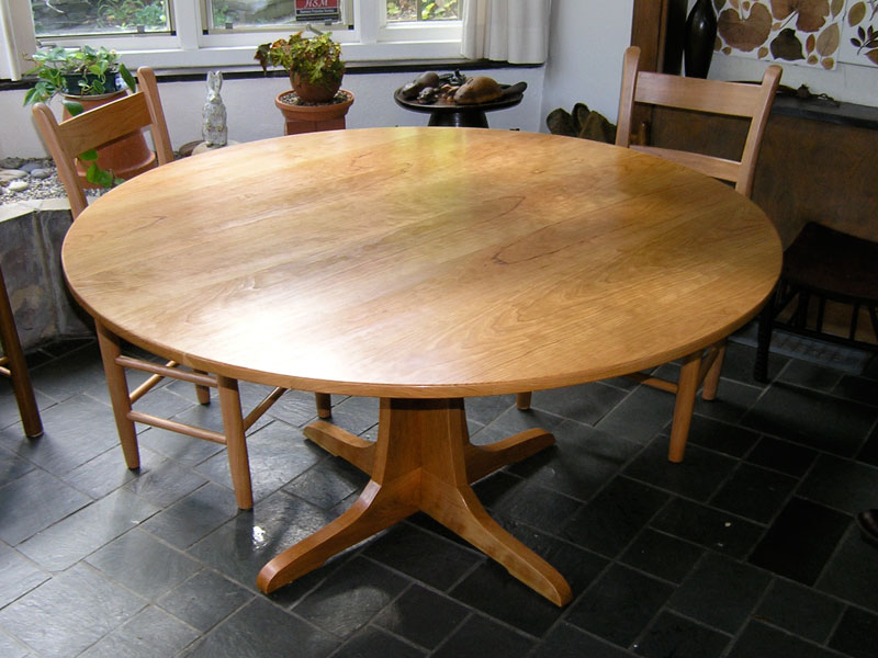 custom cherry round pedestal table - Maple Kitchen Table