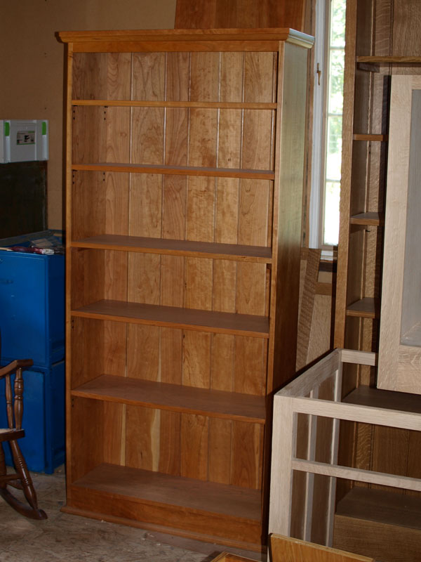 Tall Cherry Bookcase Branch Hill Joinery